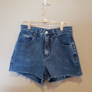 Vintage cut off high waisted mom jean shorts